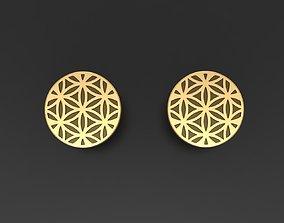Pusset earrings Flower of life 3D printable model