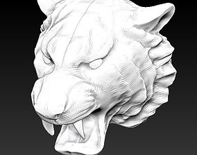 lion tiger head 3D printable model