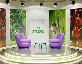3D asset realtime TV Studio