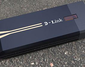 D link wifi receiver 3D print model