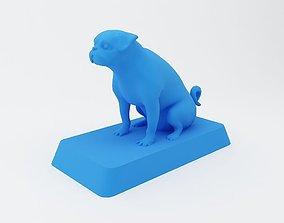 Pug Dog 3D Printable Model
