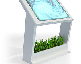 3D Touch Screen LCD Stand Display Kiosk