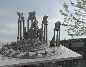 Greek Oracle temple ruin 3D model