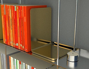 3D model gold bookends
