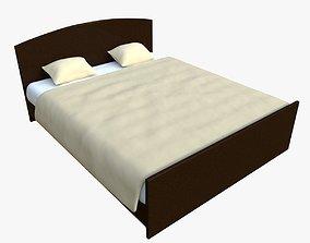 3D model blanket bed mattress orthopedic base