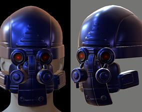 PBR necessary Gas mask helmet 3d model scifi Low-poly