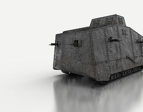 A7V German Tank WW1 3D model
