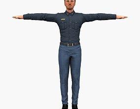 3D model USA Policeman