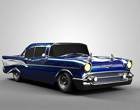 classic 3D Chevrolet Bel Air 1957
