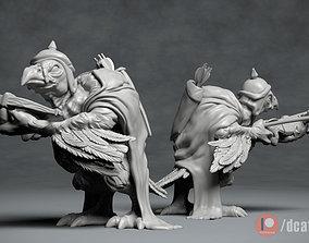Vulture Archer - 3D printable creature