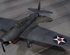 tbd-1 3D model Douglas TBD-1 Devastator