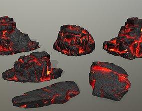 Rock Set stone 3D asset VR / AR ready