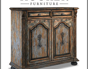Hooker Furniture Living Room Two-Door Two-Drawer Chest 3D