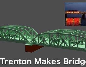 3D model Lower Trenton Toll Supported Bridge - Trenton 2