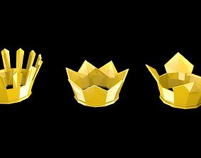 Low poly crowns 3D model