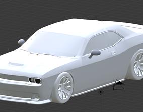 3D model 2015 Dodge Challenger Hellcat lowpoly