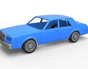 Diecast shell and wheels Lincoln 3D print model 5