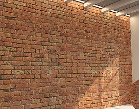 3D model Brick wall Old brick 47