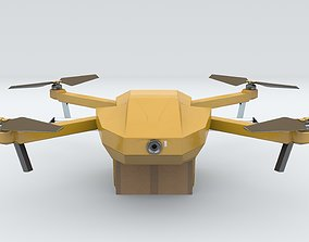 Delivery drone 3D asset
