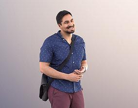 3D model Sahir 11002 - Man With Bag Talking And Standing