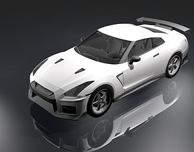 3D asset Racing car Nissan Gtr