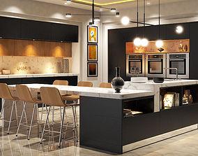 3D model house Modern Kitchen