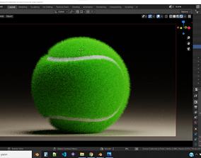 Realistic 3D Tennis Balls - Blender - 4 in 1