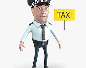 3D model Taxi Driver Cartoon Character