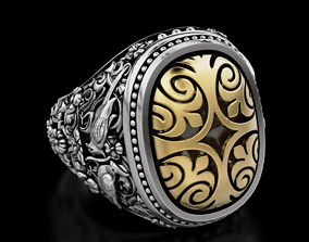 3D printable model Stylish ring with patterns 619