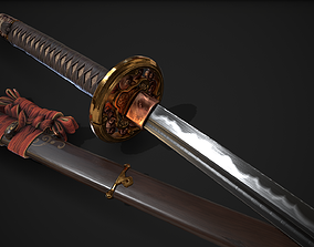 3D asset Weapon Katana Sword