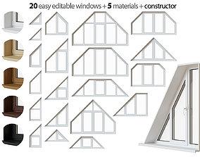 Trapezoidal window set 3D
