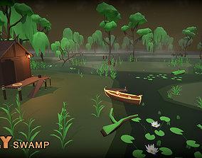 3D model VR / AR ready POLY Swamp