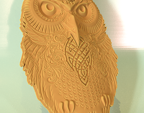 3D print model owl pendant pendants