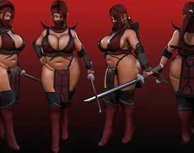 3D asset chitara warrior