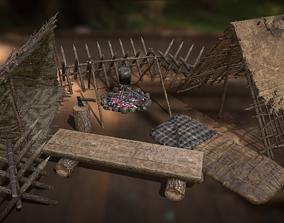 Survival Camping Pack 3D model
