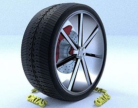 ORTAS CAR RIM 31 GAME READY RIM TIRE AND DISC 3D