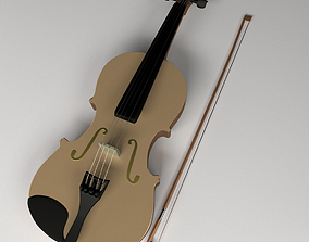 3D model Violin and Bow