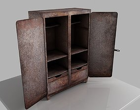 3D asset old rusty wardrobe