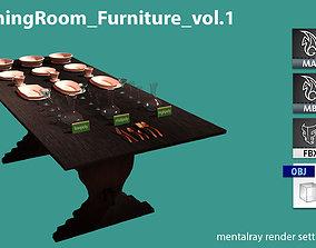 AS DiningRoom furniture vol1 3D model
