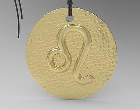 Zodiac Coin Leo 3D print model