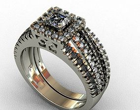 Diamond Ring 3D print model fashion