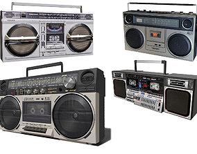 3D model recorder Retro Boom Box Ghetto Blaster Pack