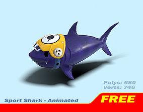 3D asset Sport Shark - Animated