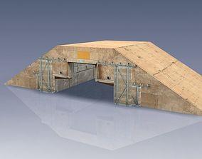 Hardened Aircraft Shelter - Desert 3D model
