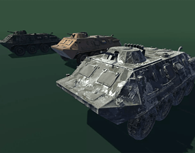 3D model game-ready Armoured personnel carrier