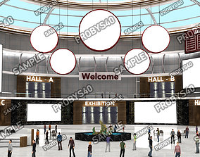 3D Virtual Stage E-Congress Organisation 001