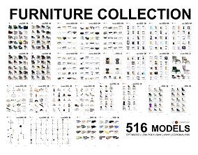 3D Furniture Library Collection - 500 Models