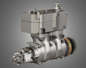 Air Brake Compressor - Two Piston - MX13 Diesel 3D model