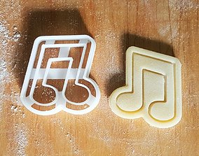 3D printable model Music note cookie cutter v2