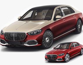 Mercedes S-class Maybach 2021 3D model